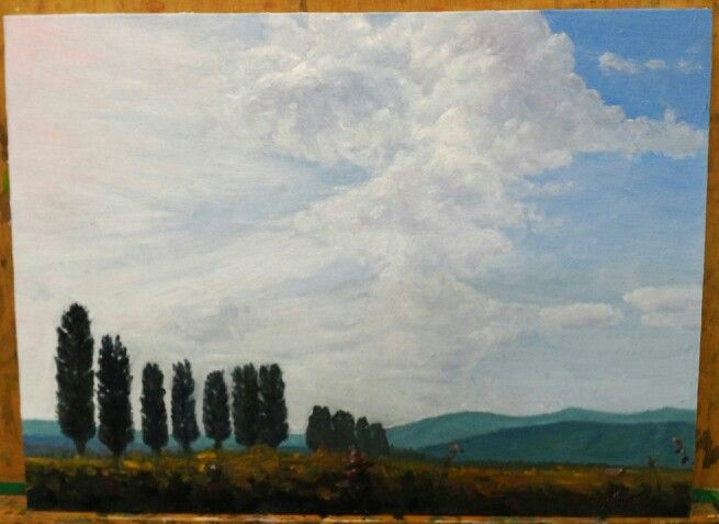 Alsace Wine Route.  Oil on canvas by 성혁 지
