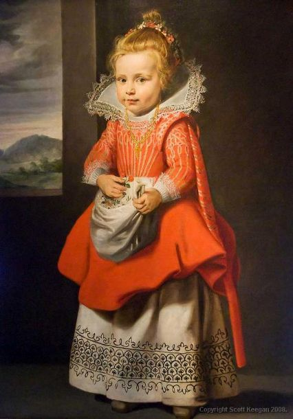 Cornelis De Vos, Magdalena de Vos (bapt.1618); formerly attributed to Velazquez; formerly entitled 'Portrait of a young girl (in red)'