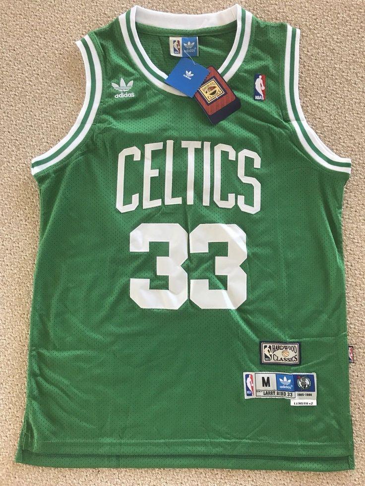 NWT Larry Bird #33 Boston Celtics Vintage NBA Green Jersey ...
