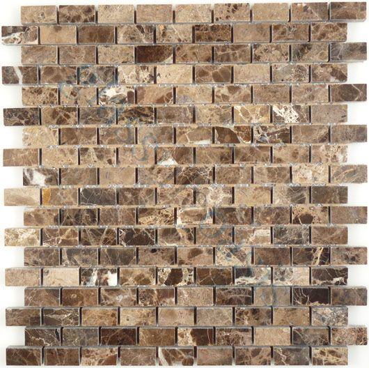 1037 Best Backsplash Tile Images On Pinterest: Tuscan Glass Brick Series, Uniform Brick, Emperador Dark