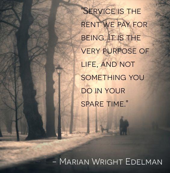 Marian Wright Edelman - Service