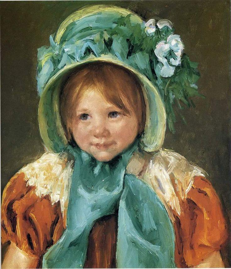 Sarah in green bonnet.....Mary Casset