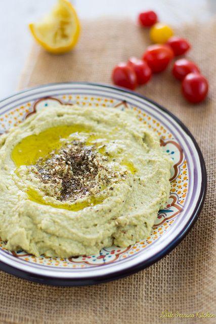 Creamy Avocado Hummus with Za'atar via LittleFerraroKitchen.com by FerraroKitchen1, via Flickr