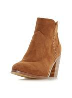 Womens *Head Over Heels By Dune Tan Pandoro Ladies Ankle Boots- Tan