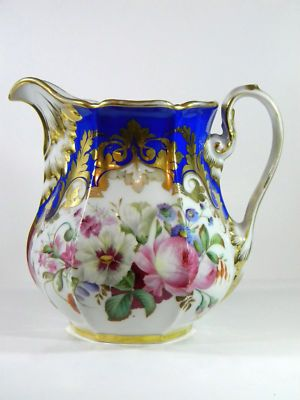 Old Paris Porcelain Antique Milk Pitcher
