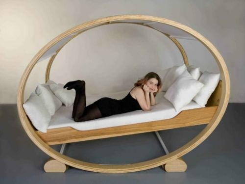 Extraordinary Oval Bed Frame Rocking Bed Design With Gorgeous Metal:  Fantastic Metal Structure Oval Bed Frame Rocking Design Ideas ~ Iquomi.com  Bedu2026