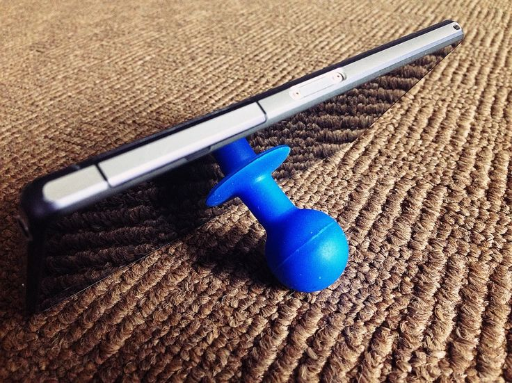 Silicone Suction Cup Cell Phone Stand (Blue)/harga 15rb
