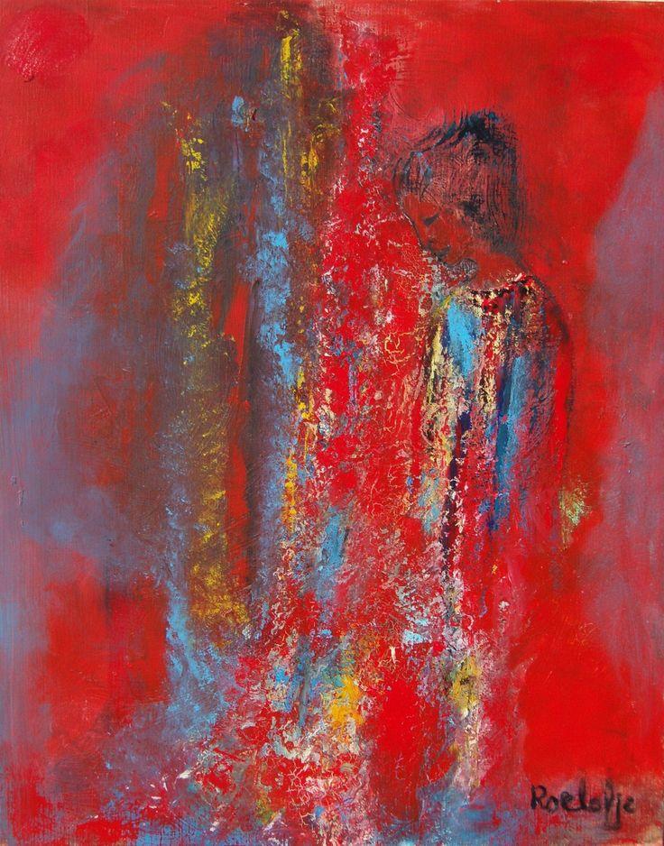 #Abstract #schilderij 'L' Amour Incoditionel ' van Roelofje van Opzeeland is te koop via #Kunstmarktplaats.nl. http://kunstmarktplaats.nl/ads/lamour-inconditionel-2/ #kunst #art #rood