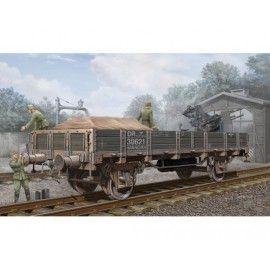 Wagon de chemin de fer allemand (flancs abaissés)