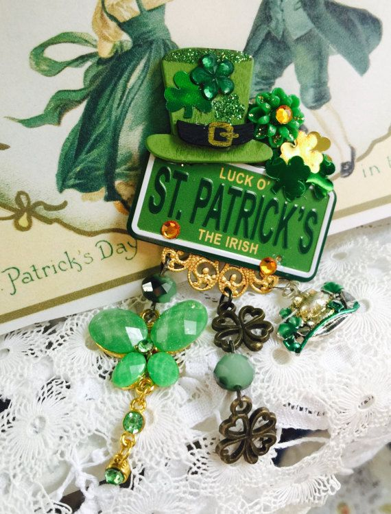 St PADDY's DAY Jewelry  Luck of the IRISH   by thejoanandlucyshow