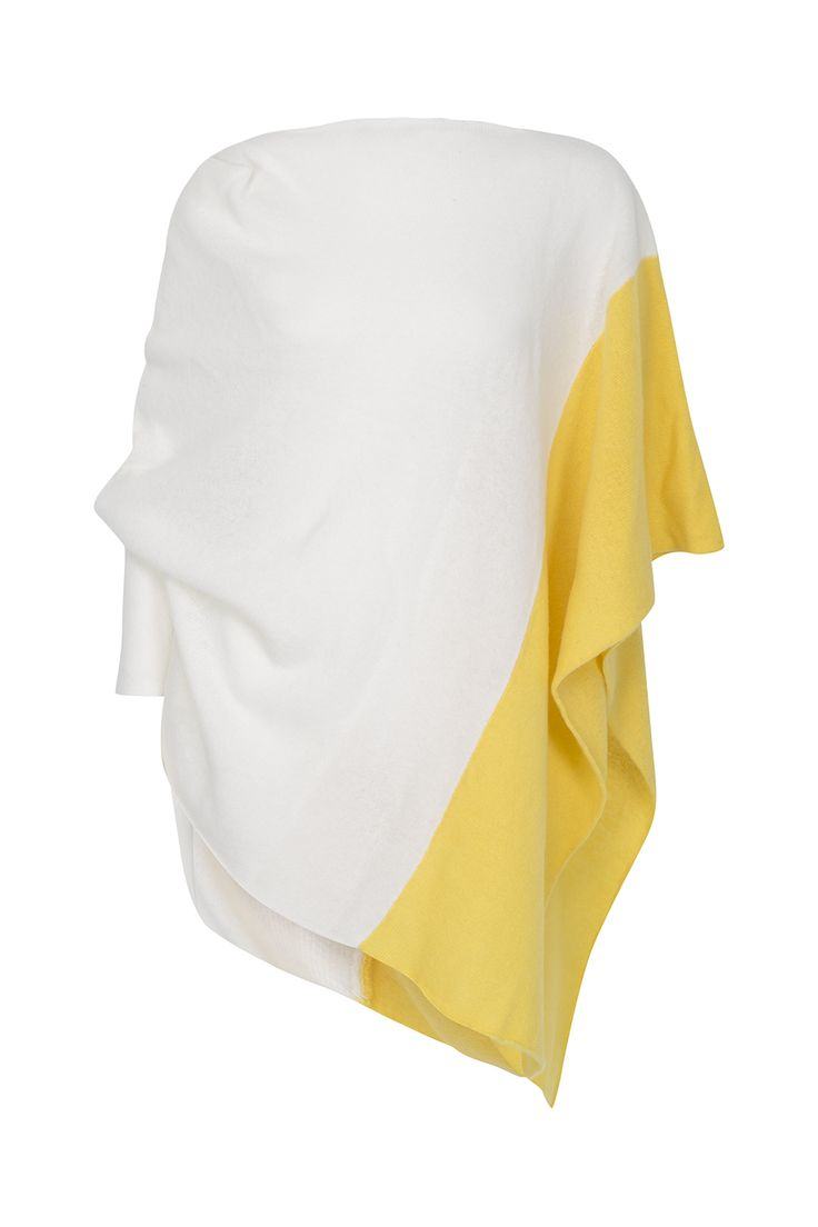 White and Yellow Diamond Shawl from the Louise Rawlins Spring 2015 Collection. 100% Lambswool. Made in Ireland using the finest Italian yarns. €225 on www.louiserawlins.ie