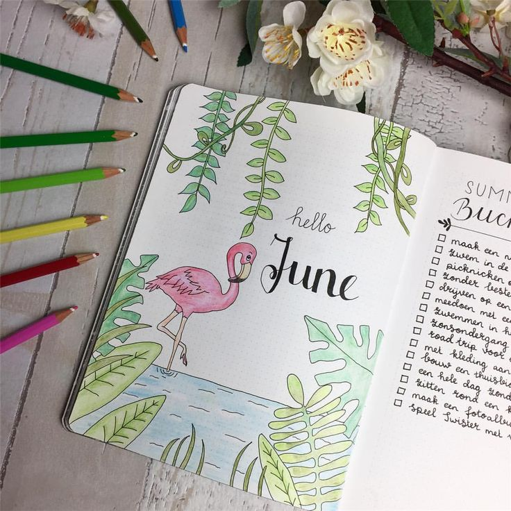 "1,143 Likes, 22 Comments - Natascha (@planningroutine) on Instagram: ""Here it is! The final result of my cover page for June. For me June is the month of summer and that…"" #diy_summer_journal"
