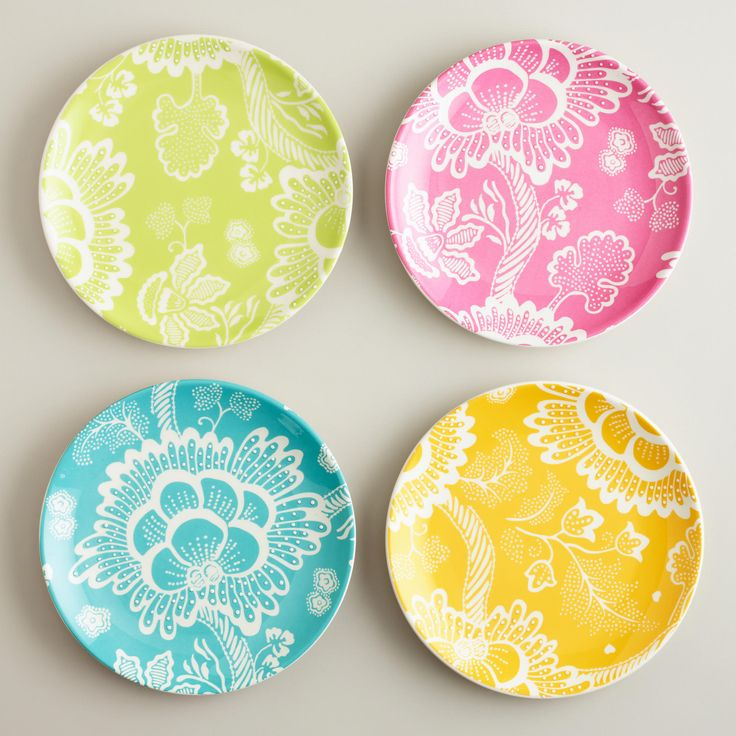 Spring Floral Plates - contemporary - plates - by Cost Plus World Market  sc 1 st  Pinterest & 791 best Dinner Plate Decorations! images on Pinterest | Pottery ...