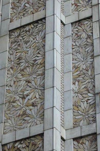 Edifício 25 bis rue Franklin, Auguste Perret, Paris, 1903, revestimento externo