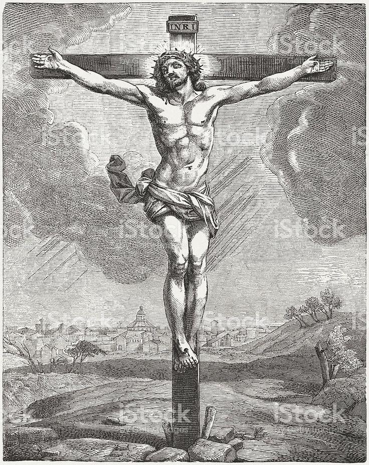 рисунки распятие христа карандашом жгут