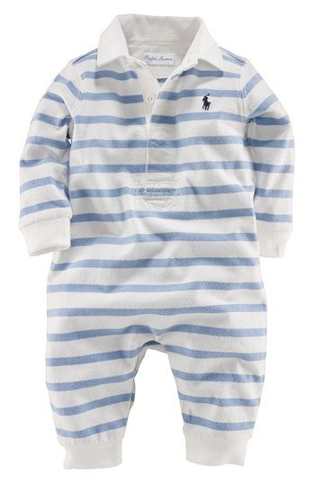 Ralph Lauren striped coveralls.