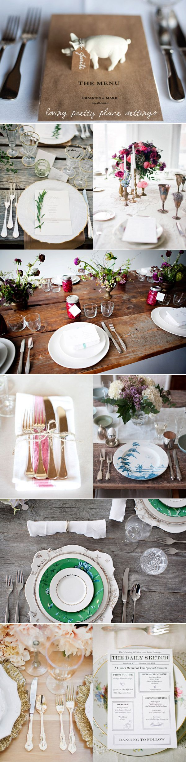 Beautiful place settings, wedding and otherwise
