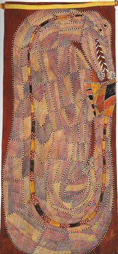 Peter Marralwanga / Ngalyod - Rainbow Serpent 127 x 56 cm
