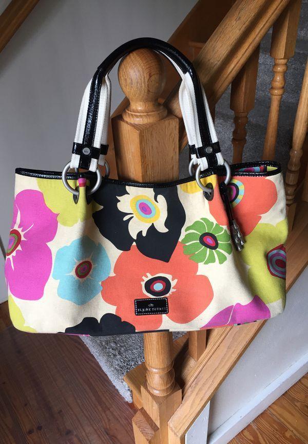Elaine Turner Purse Tote Poppy Fabric