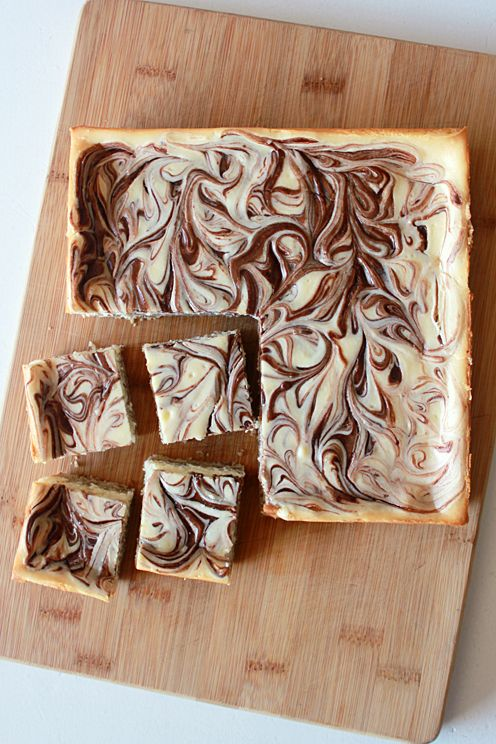 Nutella Cheesecake Square