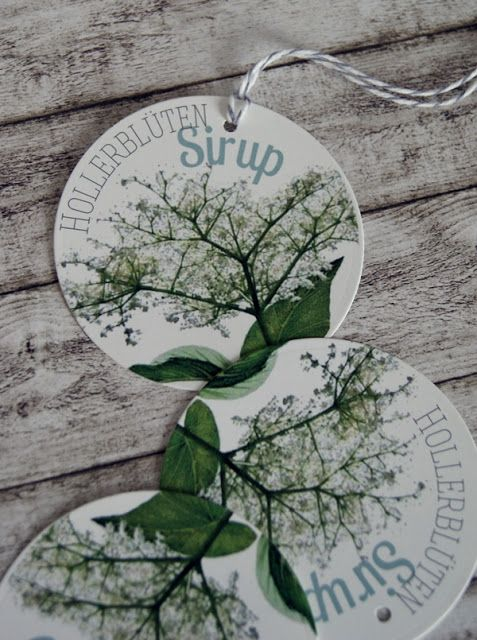Veridiana Fromm: freebie friday - Hollunderblüten-Sirup Etiketten