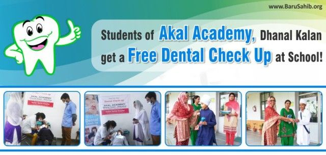 Students of Akal Academy, Dhanal Kalan get a Free Dental Check Up at School!