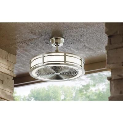 Home Decorators Collection Brette 23 in. LED Indoor/Outdoor Brushed Nickel Ceiling Fan-AM382A-BN - The Home Depot