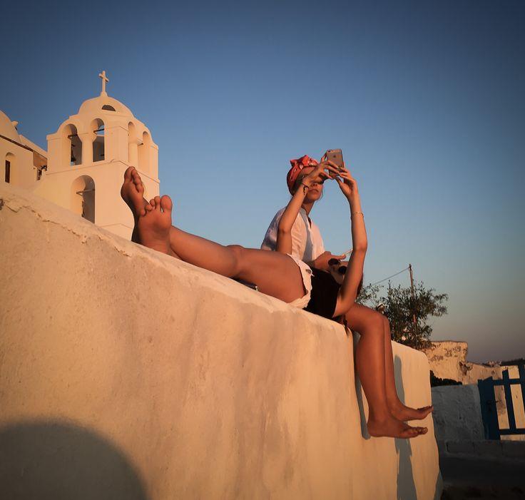 Everyone enjoys a Santorini sunset
