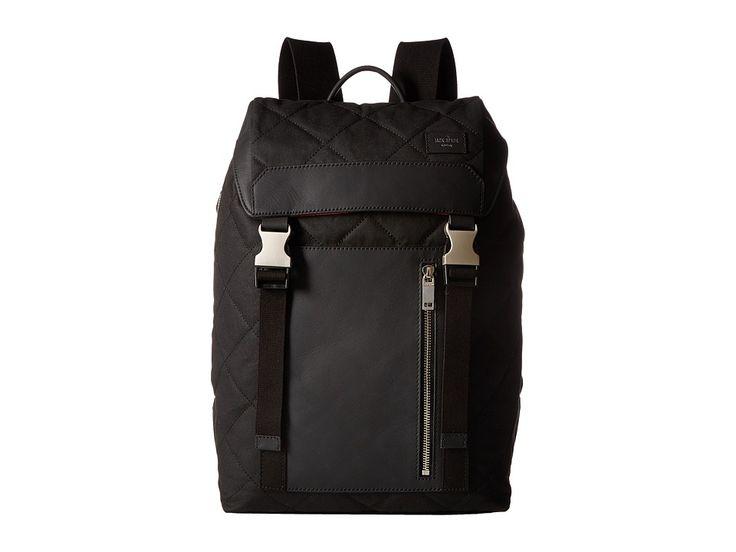 JACK SPADE JACK SPADE - QUILTED WAXWEAR ARMY BACKPACK (BLACK) BACKPACK BAGS. #jackspade #bags #lining #backpacks #cotton #