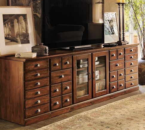 This really is a fantastic cabinet. The tuscan finish is gorgeous and it holds sooooo much!
