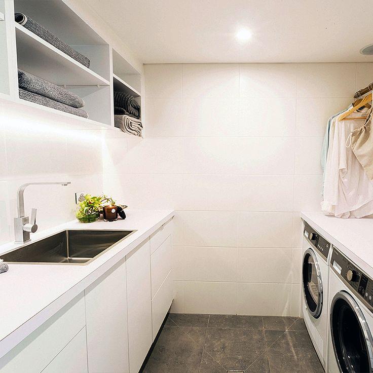 Charlotte & Josh Laundry | The Good Guys KitchensThe Block Shop - Channel 9