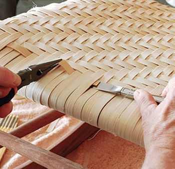 Weaving a Traditional Chair Seat with Rattan Splint - How To - Give an old chair a makeover by weaving a new seat.