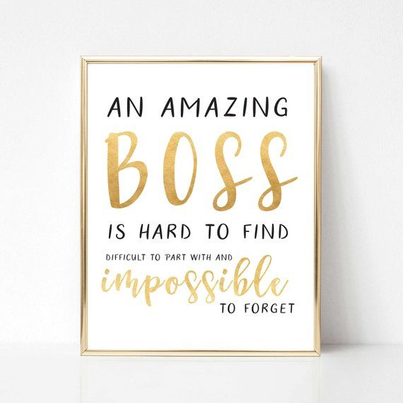 Digital Boss Quote Gift Best Boss Quote Gift Boss Etsy In 2021 Boss Birthday Quotes Best Boss Quotes Boss Day Quotes