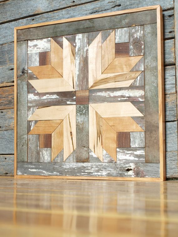 Rustic Wooden Quilt Block Cottage Chic Barn By Illuminativeharvest Wall Decorrustic