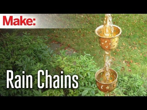 DIY Hacks and How Tos   Rain Chains instead of sometimes unsightly downspouts. Disperses the water evenly around the area instead of creating a gully effect. Perfect for corner gardens that round your house.