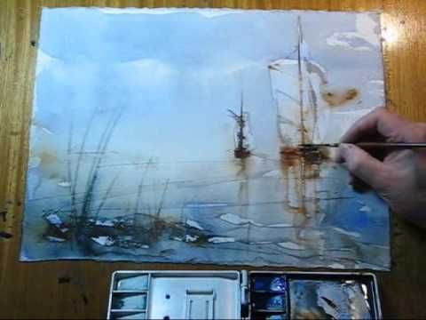 The Wet Watercolor - YouTube (Sailboats)