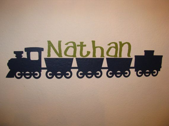 Train Wall Decal Custom Name Personalized Baby Boy Nursery