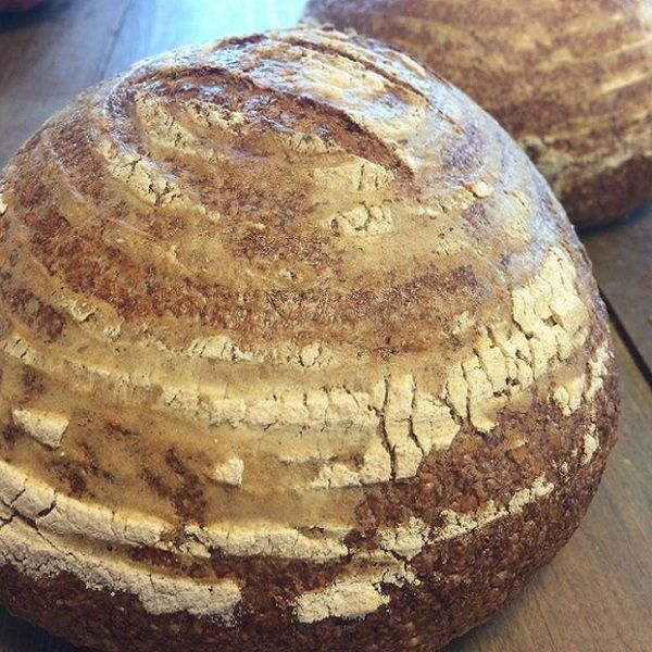Our fresh artisnal sourdough is a great addition to just about everything. The blend of locally grown organic flours has really helped craft a uniquely flavored rustic loaf of bread.