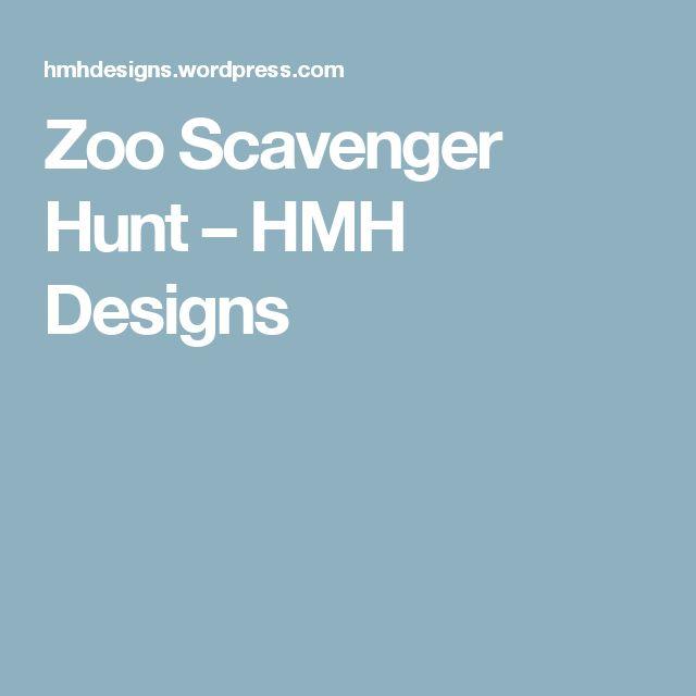 Zoo Scavenger Hunt – HMH Designs