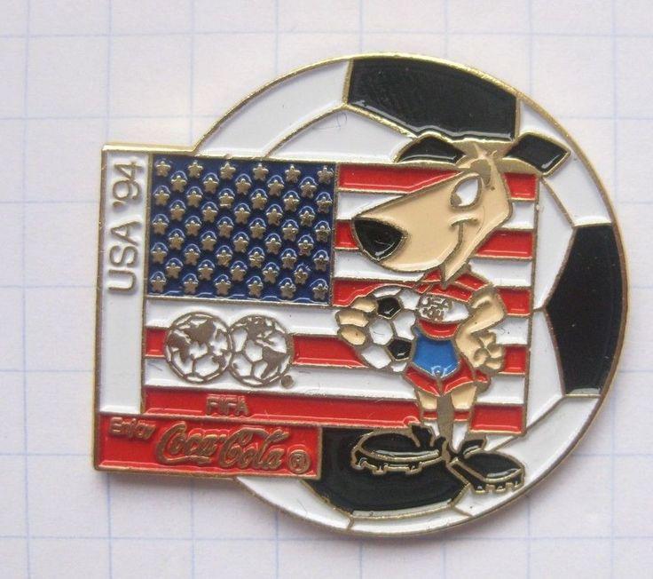 COCA-COLA  / WORLD CUP USA 94 STRIKER / FAHNE / BALL ........ Pin (111k)  | eBay