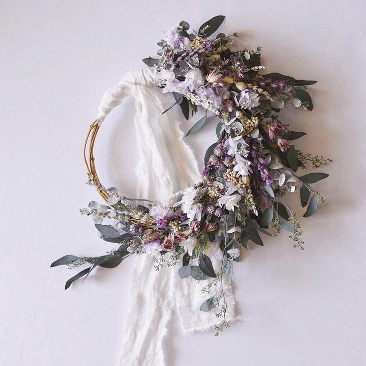 Flower Wreaths For Weddings: 31 Best Hoop Bouquets Images On Pinterest