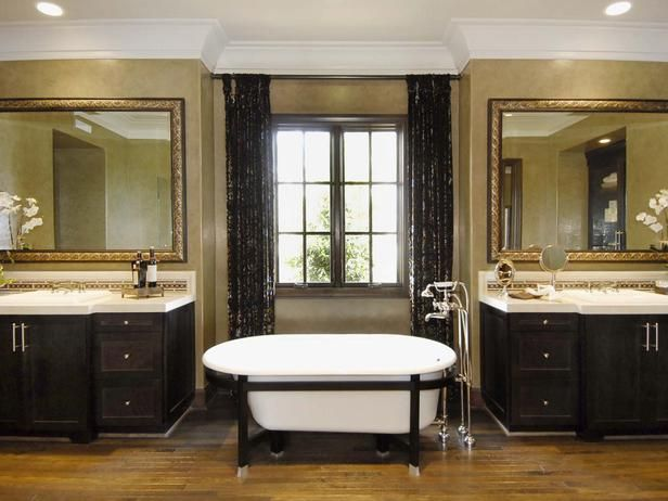 Golden Bathroom This master bath is enhanced by an