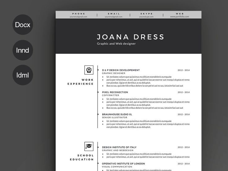 56 Best Resume Templates Images On Pinterest | Resume Templates