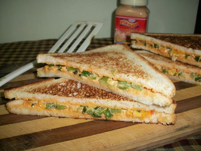 YUMMY TUMMY: Cheese Spread Sandwich with BellPeppers – Kids Special Recipes / Under 30 mins