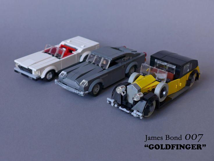 "https://flic.kr/p/z6S1Am   James Bond 007 ""Goldfinger"" - Movie Cars   The main movie cars from the 1964 James Bond film ""Goldfinger"": Aston Martin DB5 (James Bond), Rolls-Royce Phantom III (Goldfinger, Oddjob), Ford Mustang Convertible (Tilly Masterson)"