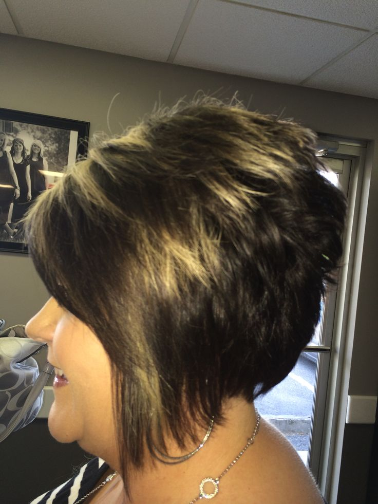 Tight Asymmetrical Stack With Added Highlights For Dimension Cute And Sassy Bobs