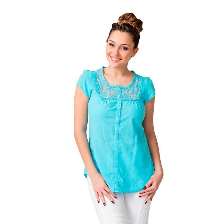 La Cotonnière Chemise Margarita Bleu turquoise Drop-188880