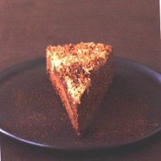 """Delia Smith's Chocolate Truffle Torte from her """"Christmas"""" book. Just chocolate, alcohol, cream and amaretti biscuits; so easy that a complete kitchen-phobe could make it and it's the richest, most moreish and utterly stunningly fabulous choccie pud ever!"""