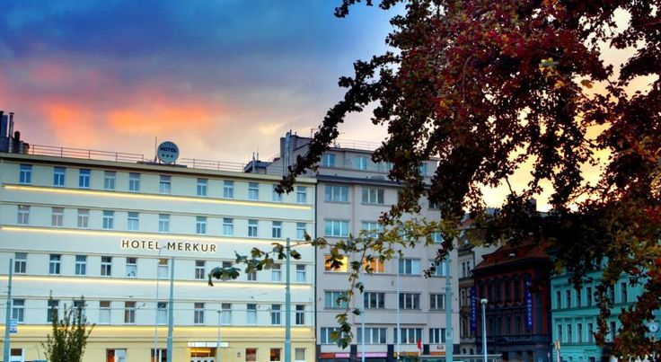 Hotel Merkur Prague Steps away from the Old Town Square, Hotel Merkur is situated next to the gates of Prague's historic centre. 200 metres from the Florenc metro and bus station, it offers rooms with cable TV. A WiFi hotspot is available.