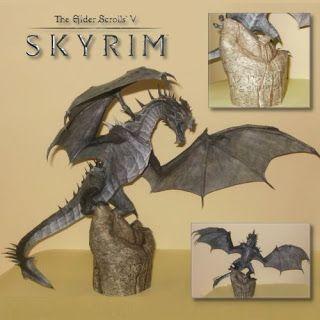 Tektonten Skyrim Papercraft: Frost Dragon